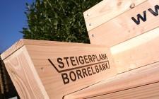 Flyers en visitekaarten Steigerplank-borrelbank.nl