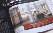 Advertentie in magazine Luxity voor Maassen van den Brink Velp
