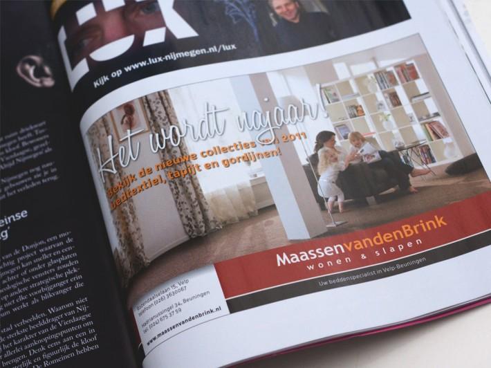 Advertentie Maassen van den Brink Velp in Luxity