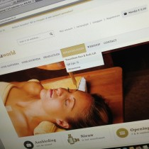 Website SantoshaWorld in ontwikkeling