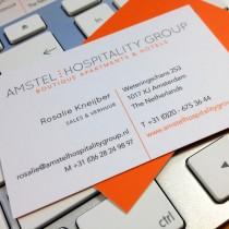 Ontwerp/productie visitekaarten Amstel Hospitality Group