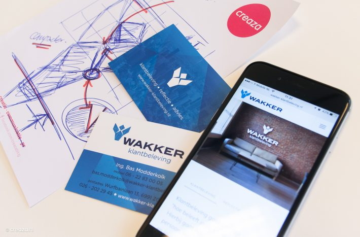 Wakker Klantbeleving, logo, website en visitekaarten